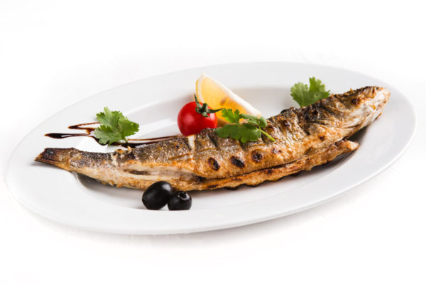 сибас на мангале рыба гриль